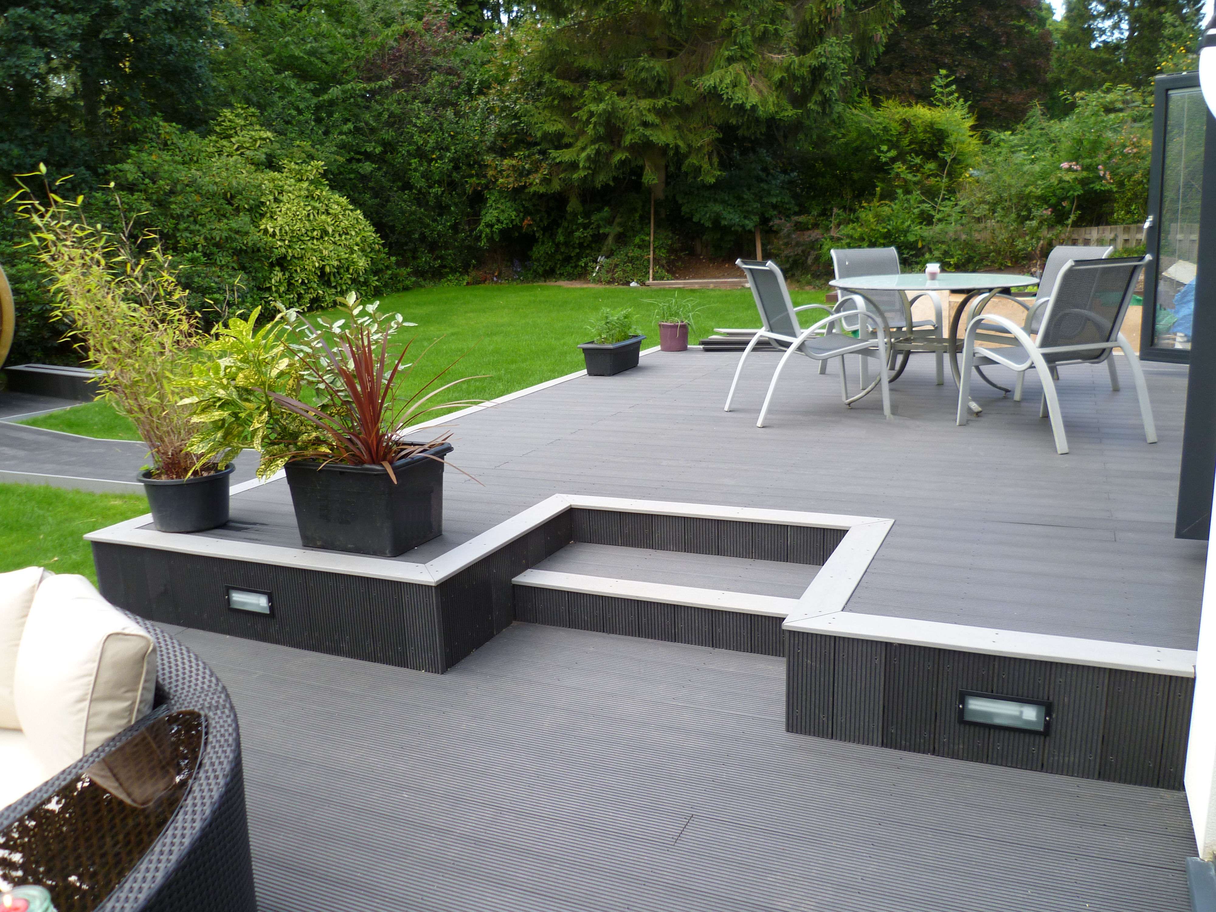 Plants to complement your composite decking home for Garden decking colours