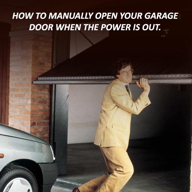 re engage garage door manually