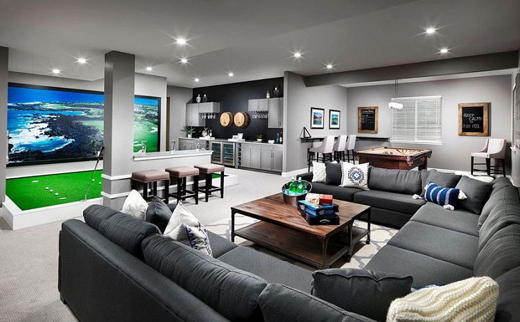 Things you need for the perfect sports themed man cave - Family game room ideas ...
